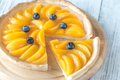 Tart with peaches and blueberry - PhotoDune Item for Sale