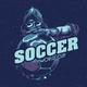 T-Shirt Label Design of Soccer