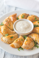 Mini chicken pies on the white plate - PhotoDune Item for Sale