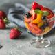 Fruit salad in the glass vase - PhotoDune Item for Sale