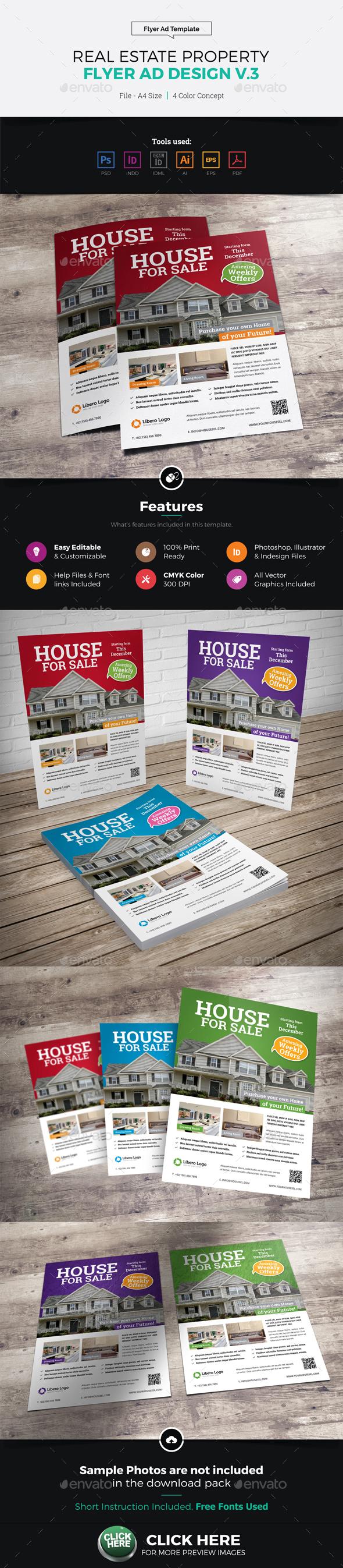 Real Estate Flyer Ad Design v3 - Corporate Flyers