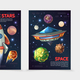 Cartoon Colorful Space Vertical Banners