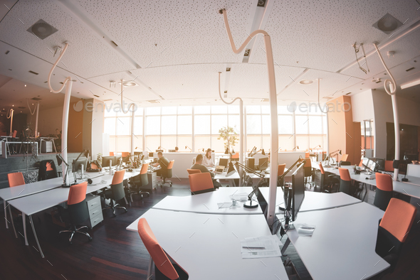 busy coworking office space - Stock Photo - Images