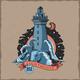 T-Shirt Label Design of Lighthouse