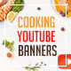 Bundle - 20 Cooking - Nutrition YouTube Banners - GraphicRiver Item for Sale