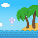 Cartoon Summer Beach Background - VideoHive Item for Sale