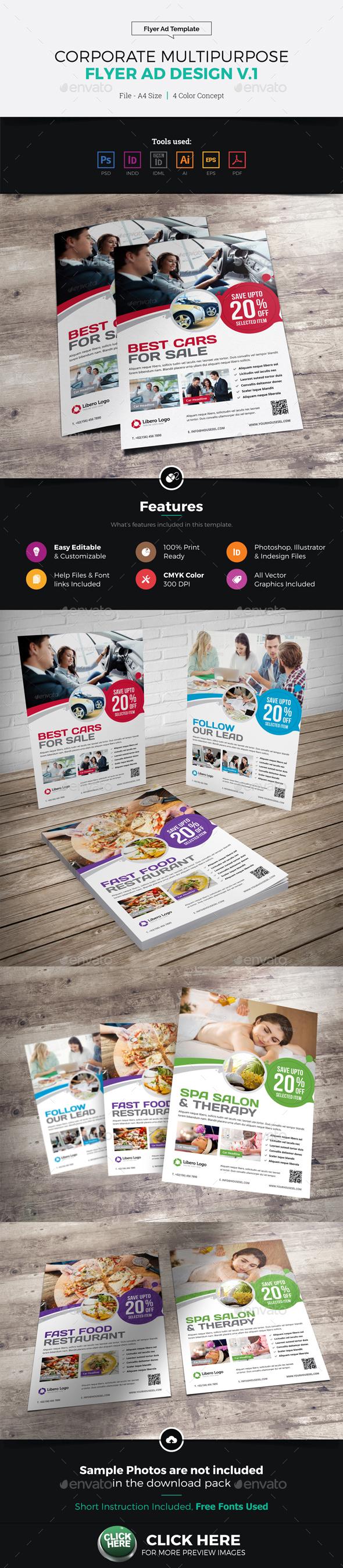 Corporate Multipurpose Flyer Ad Design v1 - Corporate Flyers