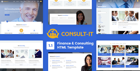 Image of ConsultIt - Consulting & Finance HTML5 Template