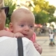 Baby Having Outdoor Walk in Mothers Arms - VideoHive Item for Sale