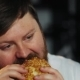 Fat Man Watches TV and Eats a Burger - VideoHive Item for Sale