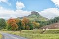 Autumn farm landscape on road to Garden Castle in Drakensberg