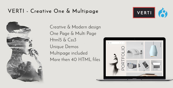 Image of Verti - Creative OnePage & MultiPage Drupal 8 Theme