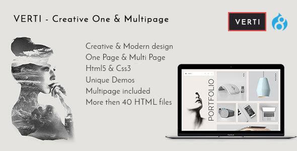 Verti - Creative OnePage & MultiPage Drupal 8 Theme - Creative Drupal