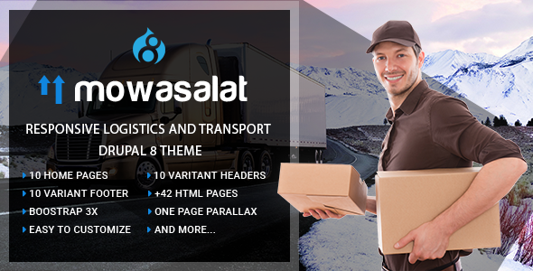Mowasalat | Responsive Logistics and Transport Drupal 8 Theme - Business Corporate