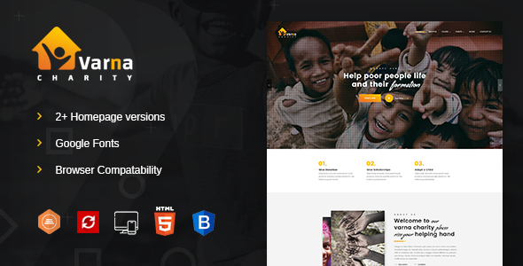 Image of Varna Fundraising & Charity HTML Template