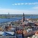 Panorama View at Riga From the Tower of Saint Peter's Church, Latvia - VideoHive Item for Sale