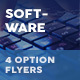 IT – Software Company Flyers – 4 Options