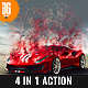 4 in 1 Dispersion Photoshop Action - GraphicRiver Item for Sale
