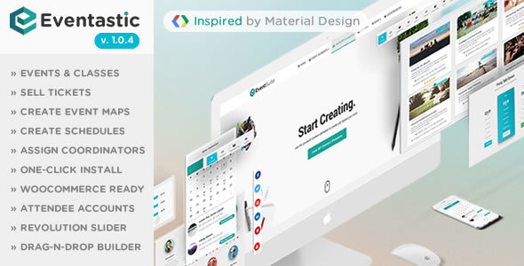 Eventastic – Multipurpose Theme for Events & Classes