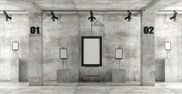 Contemporary art gallery - Stock Photo - Images