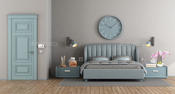 Elegant master bedroom - Stock Photo - Images