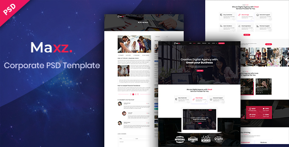 Maxz – Corporate PSD Template