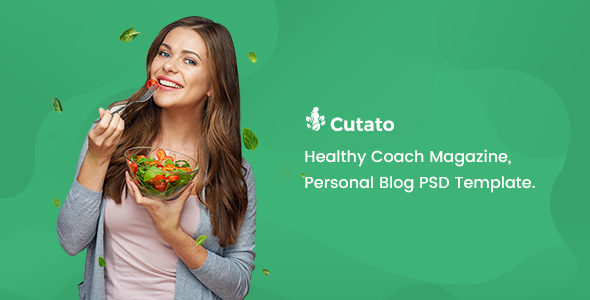 CUTATO – Healthy Magazine PSD Template