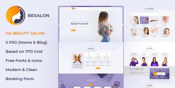 Besalon   Beauty Salon One Page PSD Template