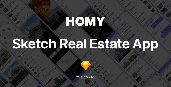 Homy - Sketch Real Estate App - Sketch Templates