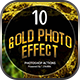 Gold Photo Manipulation Action - GraphicRiver Item for Sale