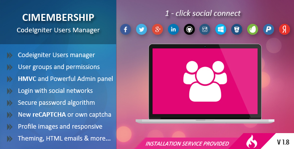 CIMembership - CodeIgniter Users Manager - CodeCanyon Item for Sale