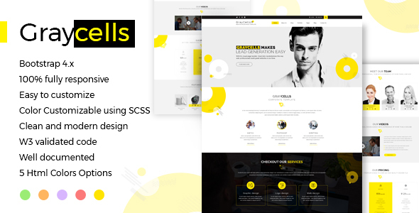 Image of Graycells Responsive Template