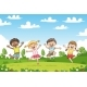 Happy Jumping Children - GraphicRiver Item for Sale