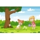 Two Girls in The Garden - GraphicRiver Item for Sale