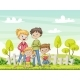 Young Family In The Garden - GraphicRiver Item for Sale