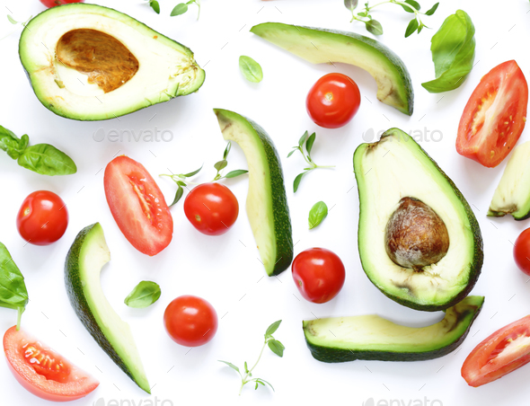 Food Background Avocado - Stock Photo - Images