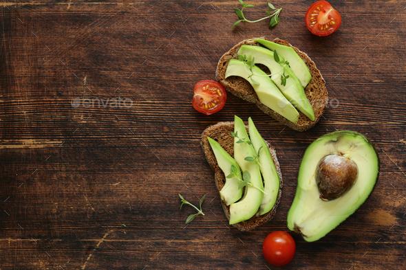 Food Avocado Sandwich - Stock Photo - Images