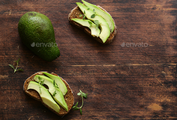Food Avocado Sandwich - Stock Photo - Images