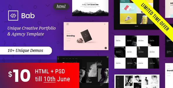 Image of Portfolio HTML Template - BAB