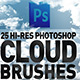 25 Hi-Res Cloud Brushes
