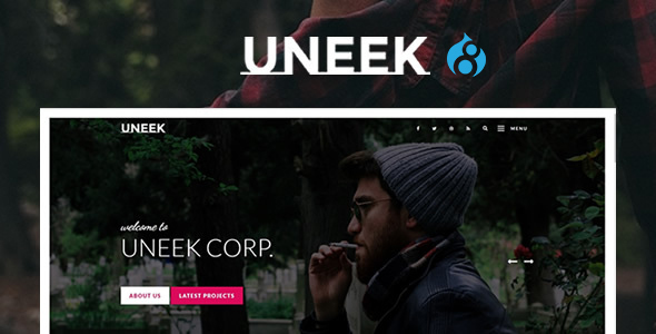 Uneek - Clean Blog/Portfolio Drupal 8 Theme