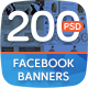 Facebook Banners Bundle-Graphicriver中文最全的素材分享平台