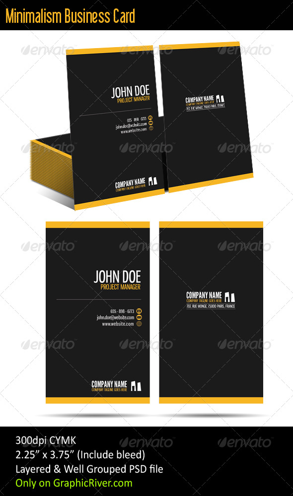 RD Minimalist Business Card - Corporate Business Cards