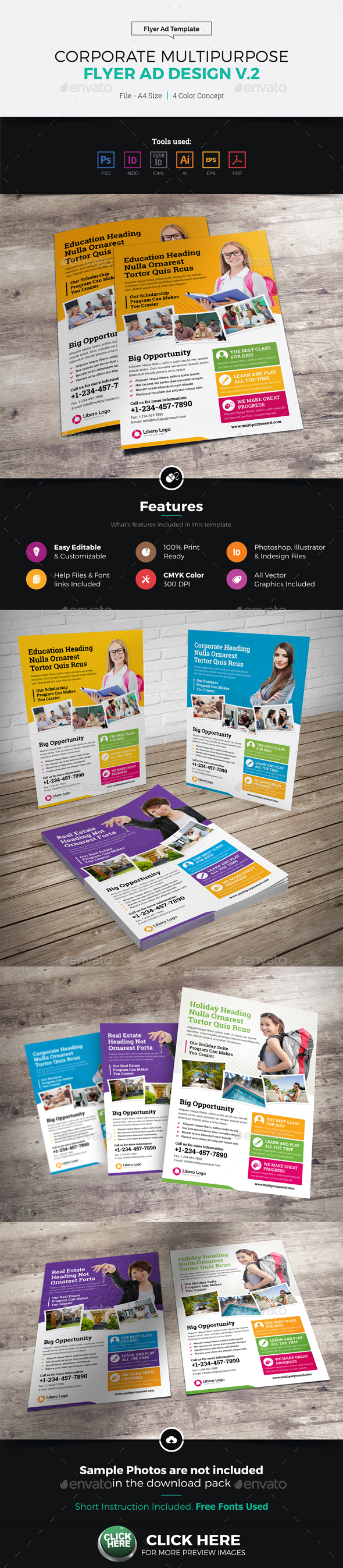 Corporate Multipurpose Flyer Ad Design v2 - Corporate Flyers