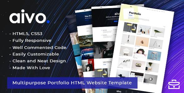 Aivo - Multipurpose Portfolio HTML Website Template - Portfolio Creative