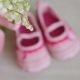 Children's Shoes Are on the Table Near a Bouquet of Flowers. For a Baby Shower Celebrate. for - VideoHive Item for Sale