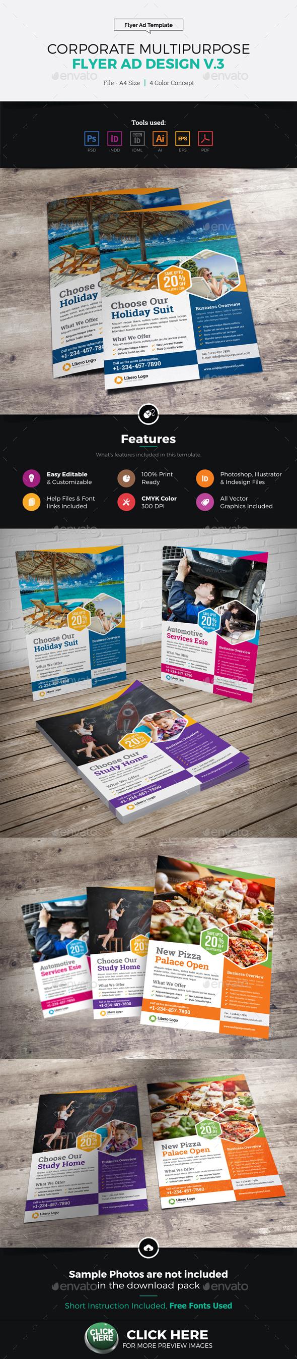 Corporate Multipurpose Flyer Ad Design v3 - Corporate Flyers