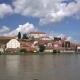 Ptuj, Slovenia, Panoramic Shot of Oldest City in Slovenia with a Castle Overlooking the Old Town - VideoHive Item for Sale