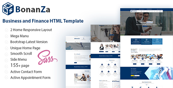 BonaZa - Business and Finance HTML Template - Business Corporate