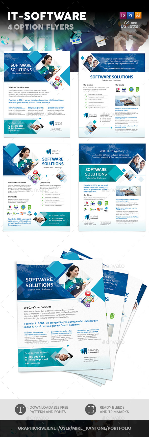 IT – Software Flyers – 4 Options - Corporate Flyers